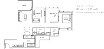 the-florence-residences-floor-plan-3-bedroom-3c5a-singapore