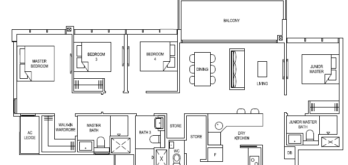 the-florence-residences-floor-plan-4-bedroom-4d1a-singapore